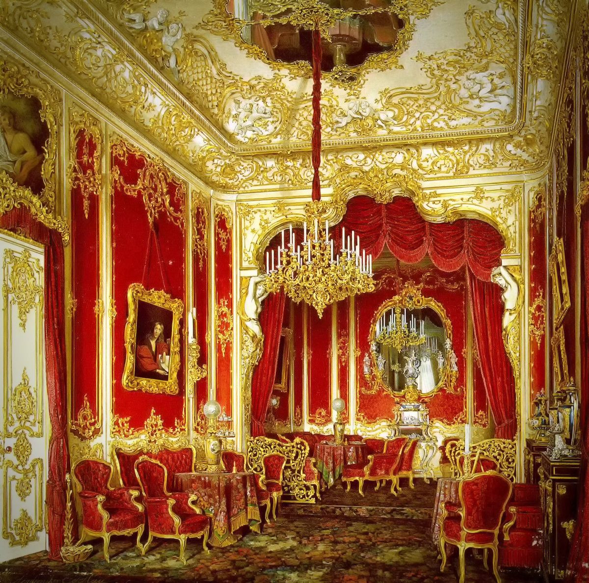 The Boudoir of Empress Maria Alexandrovna, 1861