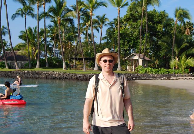 Mark at Kamakahonu Beach