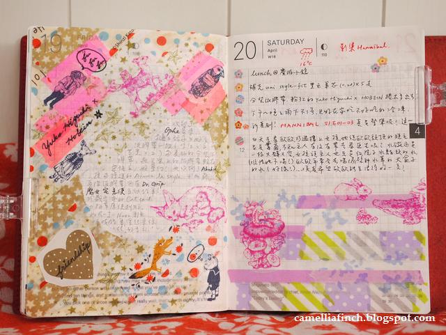 HOBO手帳 2013/4月