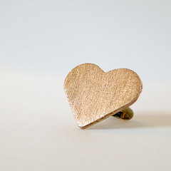 Brass Heart Statement Ring for Luri & Wilma
