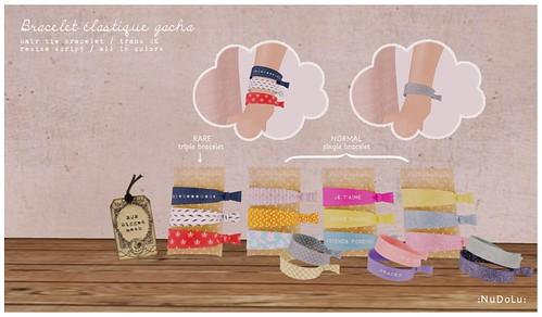 NuDoLu Bracelet elastique gacha AD