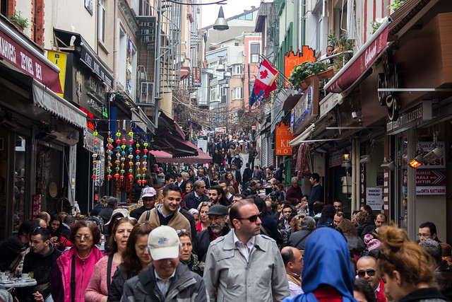 Busy Turkish Streets - Istanbul, Turkey