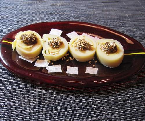 自家製蕗味噌をのせたグリルしたタケノコ by Poran111