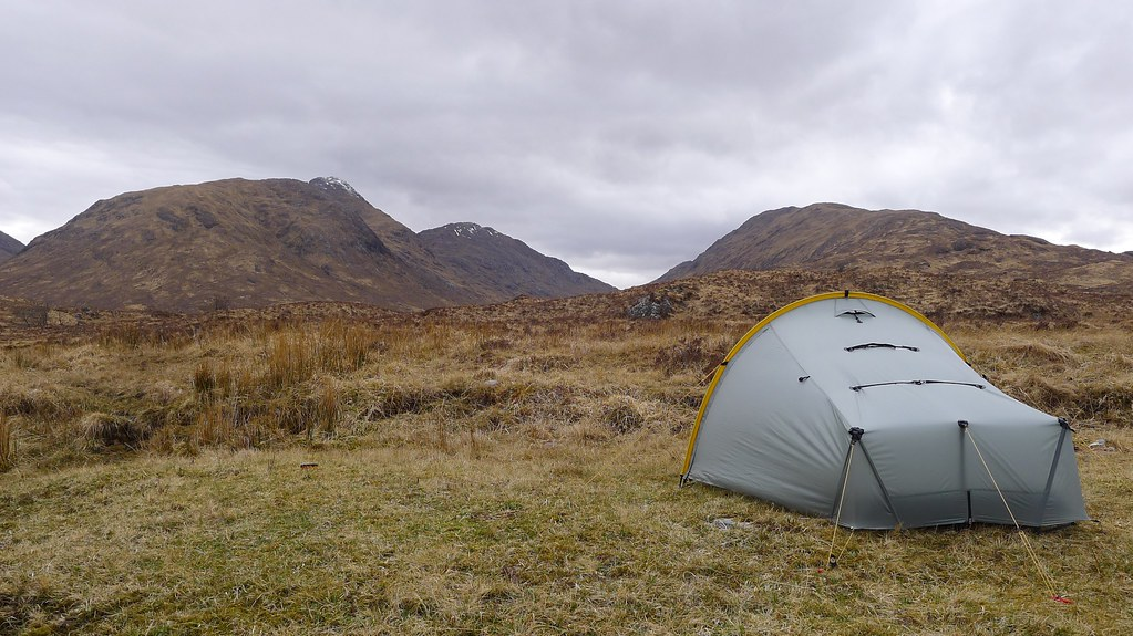 Camped in Glen Scaddle