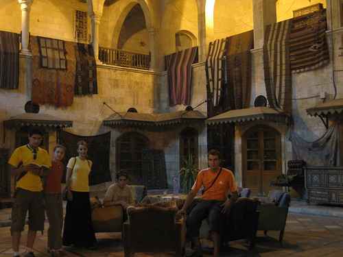 Foto en un caravasar de Alepo (Siria)