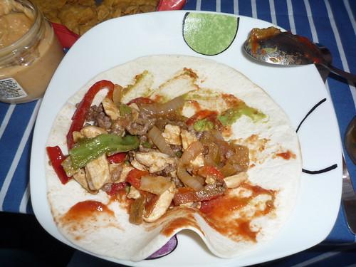 Comida mexicana en casa de Rafa
