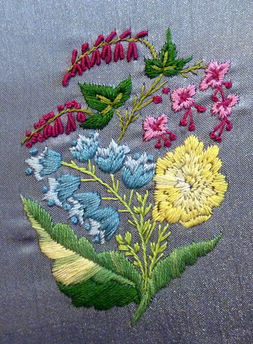 Reticule embroidery detail