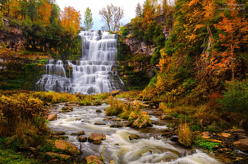 Chittenango Falls in Fall Season