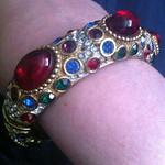 Cabochon rhinestone bracelet from tag sale in Huntington