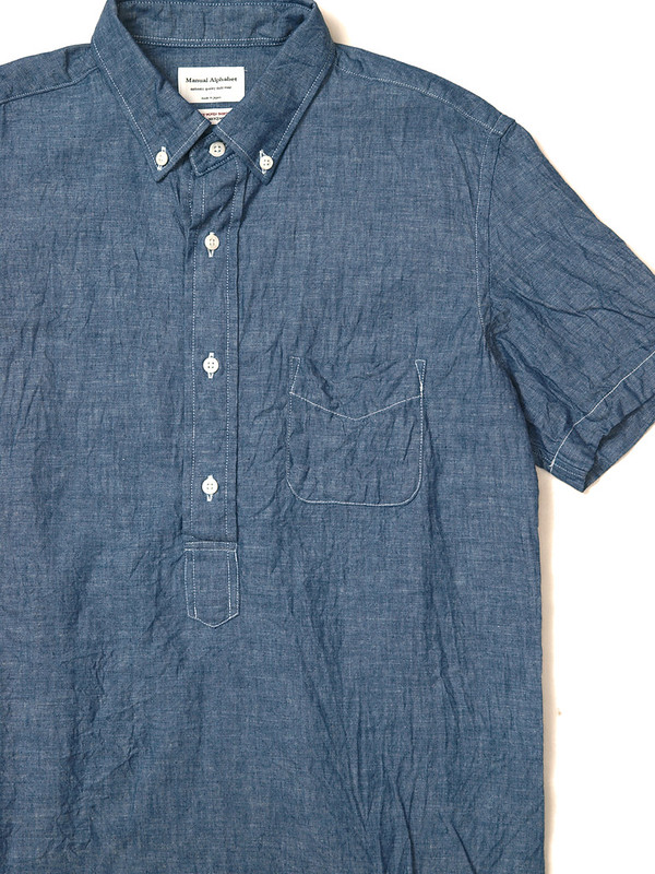 Manual Alphabet / Chambray S/S Pullover B.D Shirt