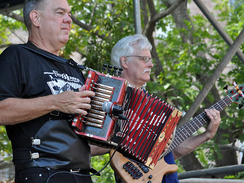 Bruce Daigrepont at the Cajun-Zydeco Fest.