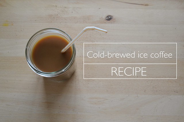 cold-brewed ice coffee recipe