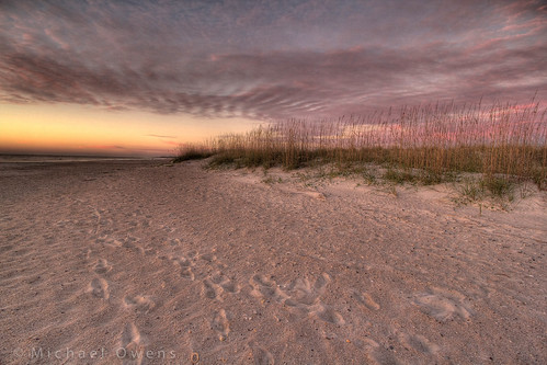 sunrise sand footsteps hdr fernandinabeach seaoats