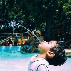 #Elijah doing his best humpback impression.  #Texas #summer #schlitterbahn #kids