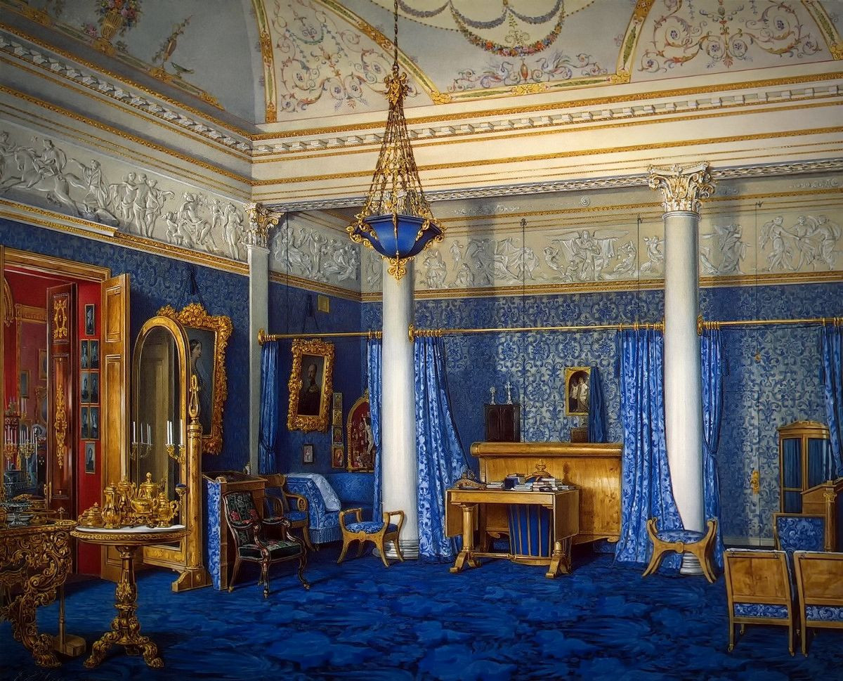 The Bedchamber of Empress Alexandra Fyodorovna, 1858
