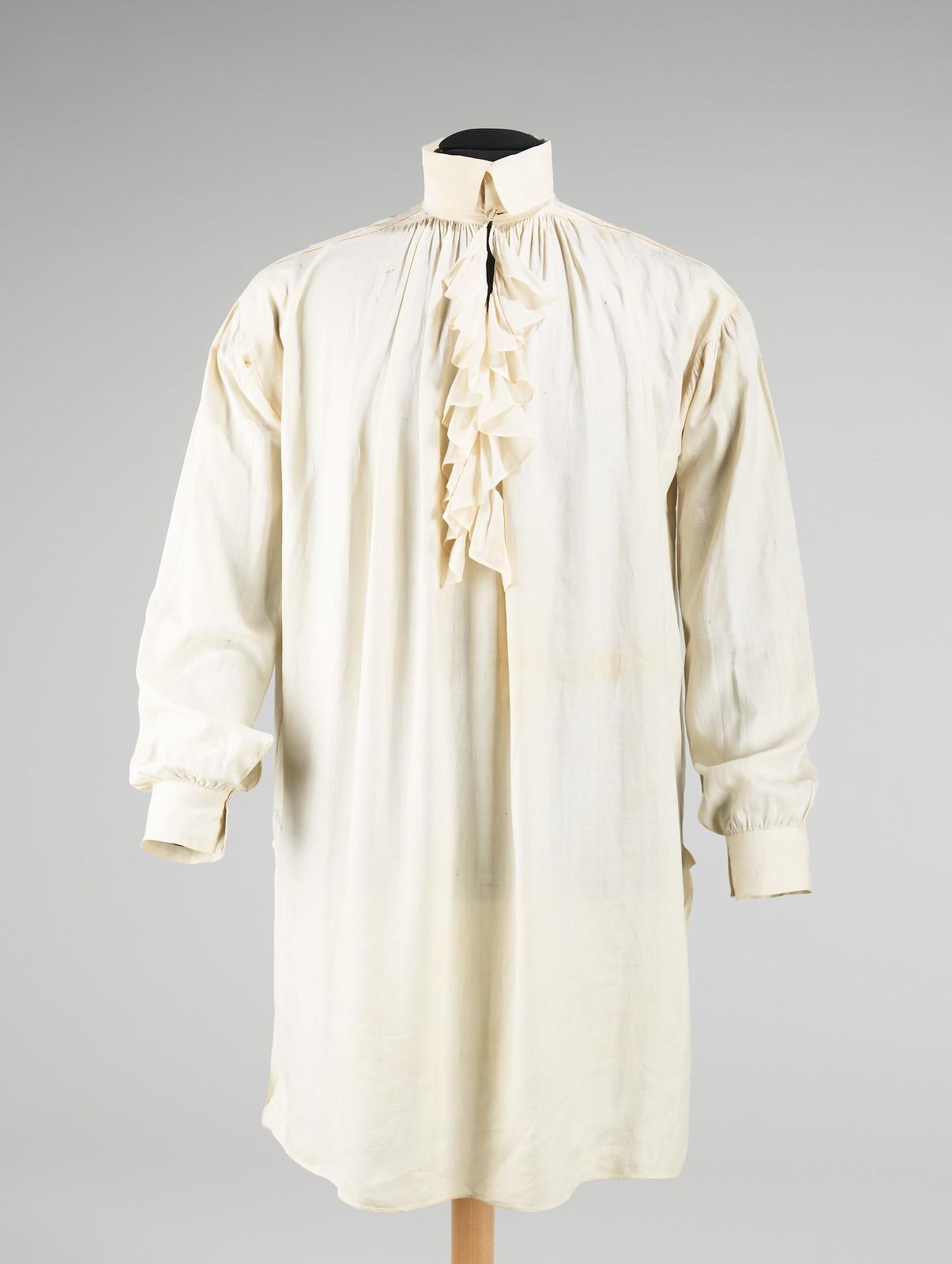 1816. Shirt. American. Linen. metmusem