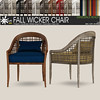 fall wicker chair