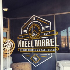 The Wheel Barrel. We didn't go in this weekend, but it looks very promising for a local restaurant! #noto #restaurant #northtopeka
