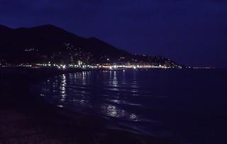 Plakias seaside by night