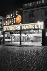 Pike's Place B&W