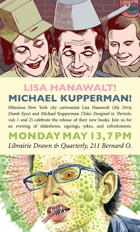 Michael Kupperman at Librarie Drawn & Quarterly in Montreal