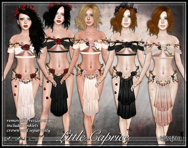 Caprice (Megapack) Second Life Silks Fantasy