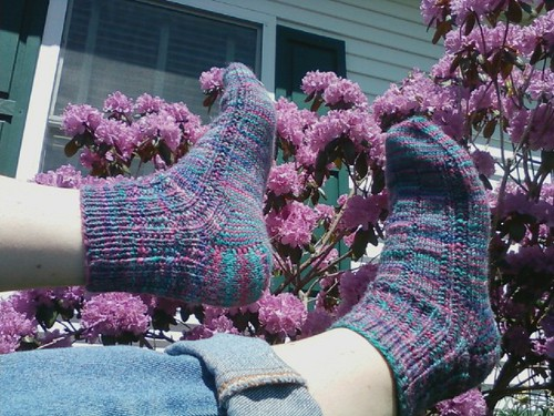 Sue's birthday socks. Done on her actual birthday!!
