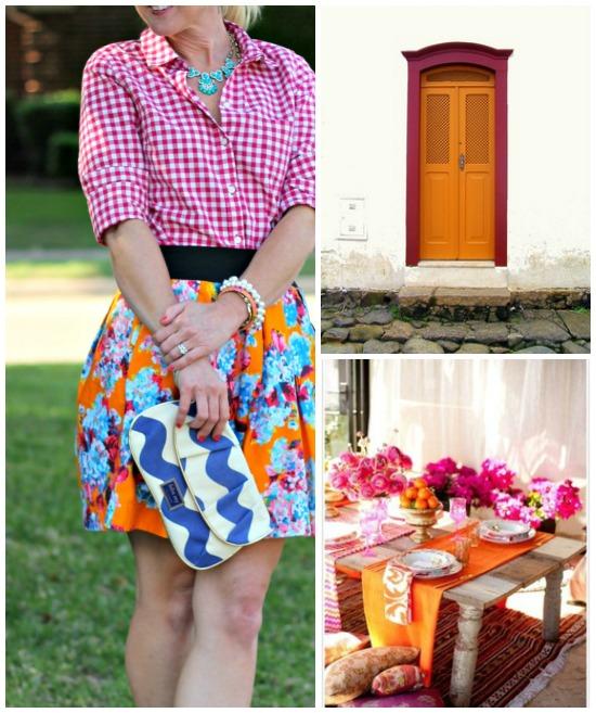 Hi Sugarplum | {Outfit Inspiration} Pink & Orange