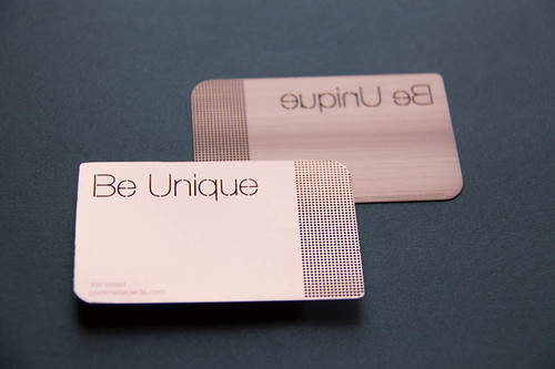 Copper metal business card by Pure Metal Cards  PureMetalCards.com