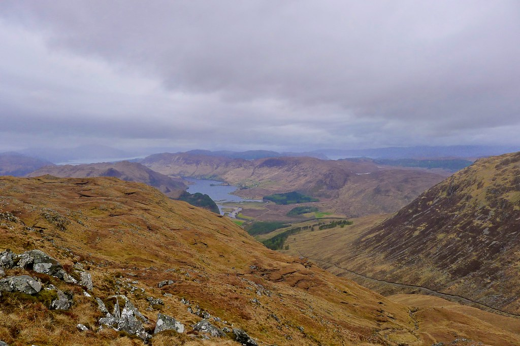 Looking down to Loch Long