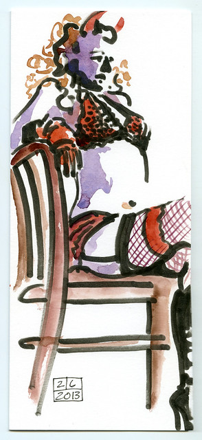 Dr. Sketchy — Cora Purrl in A Date with The Devil #2