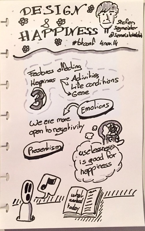 Sketchnote of the talk Design & Happiness