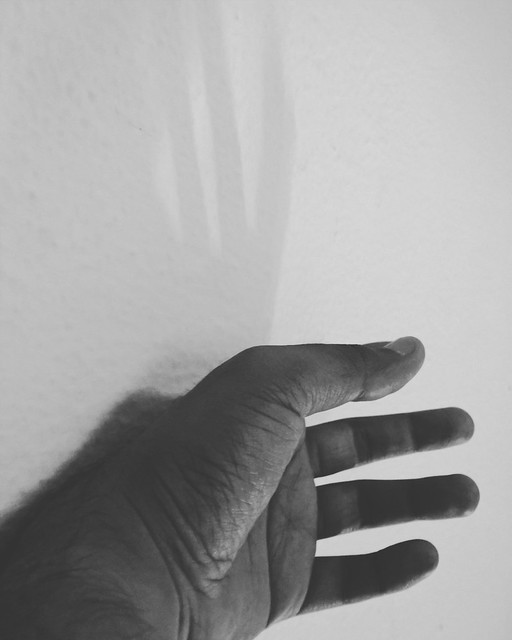 Subject of a faded shadow ! ... #subject #shadow #fingers #hand #palm #lazy #tired #monochrome #random #thoughts #lumia #cellphone #click #part #pbotography