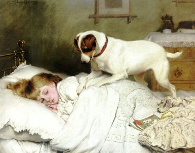 Time to Wake Up by Charles Burton Barber, 1883