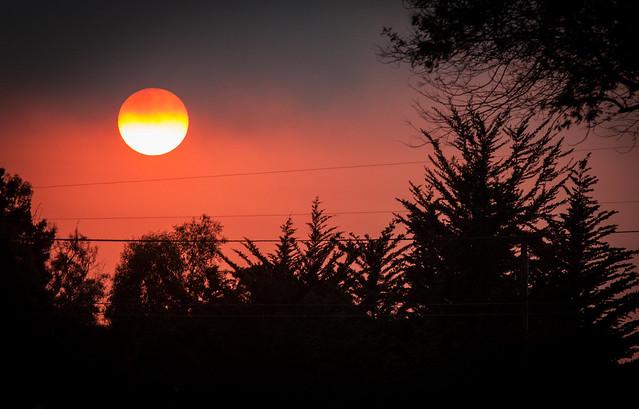 Fire Sun, Canon EOS REBEL T1I, Canon EF 70-200mm f/4L IS