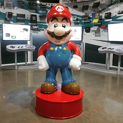 Mario is the greeter at the National Videogame Museum in Frisco TX.