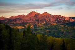 Sunset over Ruby Range last fall. #colorado #crestedbutte #fall