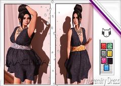 ~ϻ:ViCTORiA Glitter Denim Maternity Dress 7 Color Hud and Heels