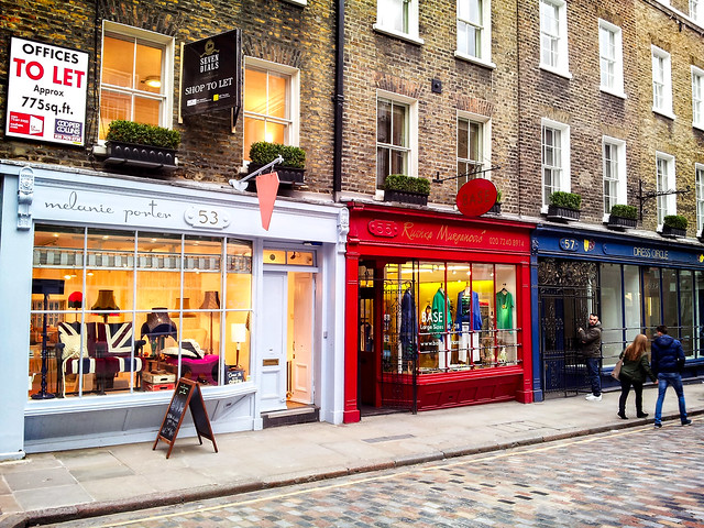 Colourful Monmouth St Shops
