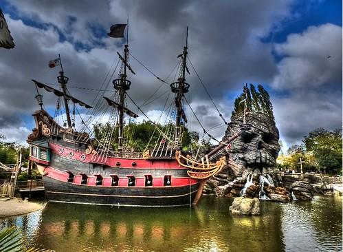 vue sur l'île aux pirates