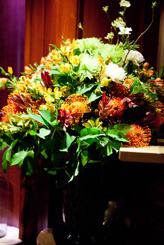 Floral arrangement at the front desk