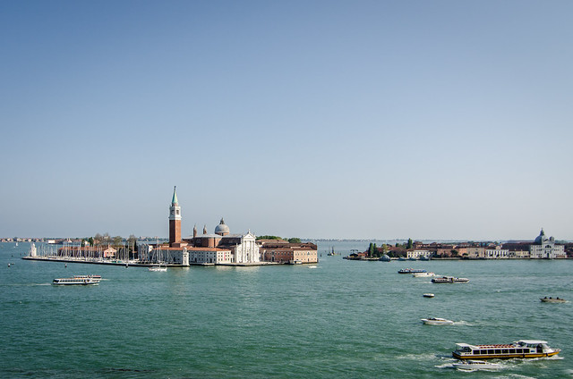 A breathtaking view of the Venetian Lagoon and island of San Giorgio Maggiore from The Doge's Palace.
