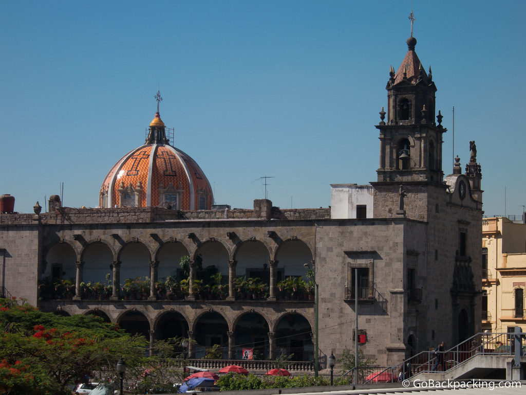 One of the many churches in downtown Guadalajara