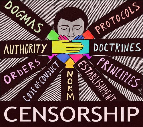 Censorship. Ben Heine.