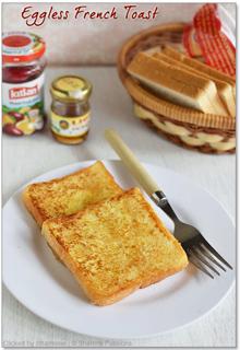 Eggless Sweet French Toast