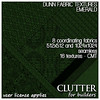 Clutter for Builders - Dunn Fabric Textures Emerald
