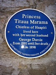 Photo of Titaua Marama and George Darsie blue plaque