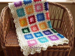 Granny Baby Blanket in Cream