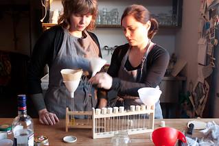 Cat Jones residency - making edible perfumes
