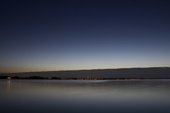 Längere Belichtung beim Sonnenuntergang
